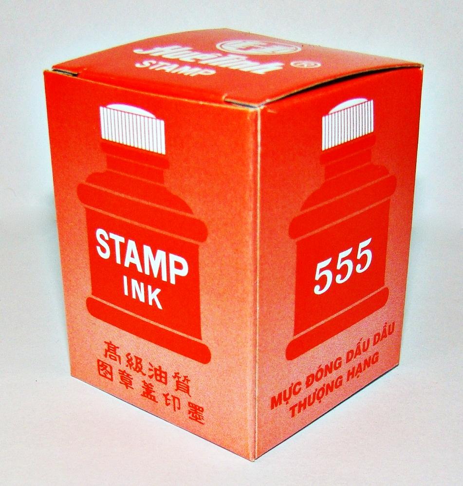 Mực đóng lên vải Huê Tinh 555 chai nhựa