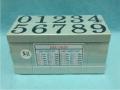Dấu số ghép N-11 Multi Joint rubber stamp (Numbers)