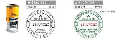 Dấu Shiny Received ngày tháng và giờ R542D-T12, R542D-T24