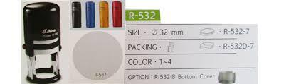 Dấu Shiny tròn R-532, R-532D có ngày tháng năm Ø32mm