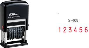 Dấu Shiny 6 số xoay thay đổi liền mực S-409 cao 4mm