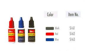 Mực Shiny SI-60 / SI-61 / SI-62 / SI-63 đóng lên vải, kiếng, kim loại, nhựa, thủy tinh Stamp Pad Premium Ink