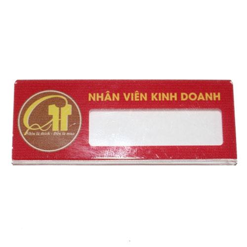 THẺ TÊN MICA IN UV  (25x70mm) MKH-07
